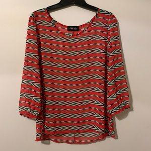 Fab'rik sheer striped blouse